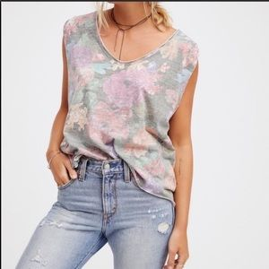 Free People We The Free NWT Tropical Combo Shirt